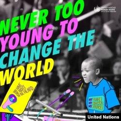 پوستر امسال سازمان ملل برای روز جهانی حقوق بشر