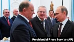 Зюганов, Жириновский, Путин