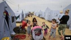 Лагерь для украинских беженцев в Ростовской области