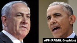 Israeli Prime Minister Benjamin Netanyahu (left) and U.S. President Barack Obama (combo photo)