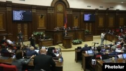 Armenia - The Armenian parliament debates the government's policy program, February 13, 2019.