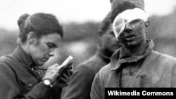 «Ліст дадому»: здымак з часоў Першай сусьветнай вайны.