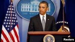 Барак Обама виступає з заявою про вибухи в Бостоні, 16 квітня 2013 року