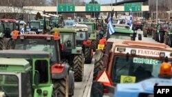Архивска фотографија: Протест на грчките земјоделци.