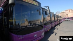 Armenia - New buses donated by the Chinese government, 24Mar2012.