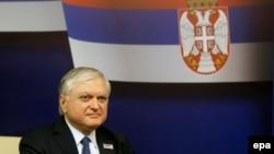 Министр иностранных дел Армении Эдвард Налбандян, Белград, 4 декабря 2015 г.