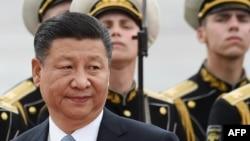 Председатель КНР Си Цзиньпин во Внуково. 3 июля 2017 года