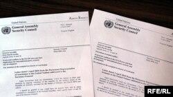 The Armenian, Azerbaijani letters in question