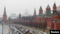 نمایی از برج کرملین در مسکو