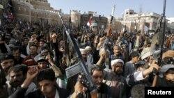 Прихильники угруповання Хуті. Сана, 1 квітня 2014 року (ілюстраційне фото)