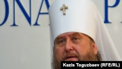 Қазақстандағы Православие шіркеуінің басшысы митрополит Александр. Алматы, 5 қаңтар 2011 жыл.