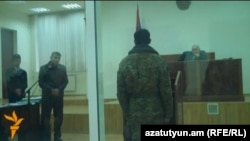 Armenia -- A court hearing in the trial of soldiers charged in the 2010 death of Lieutenant Artak Nazarian, Ijevan.