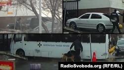 Охоронці з собаками біля МВС перевіряли всіх - окрім автівок Тимошенко