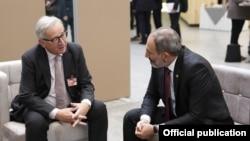 Belgium - President of the European Commission Jean-Claude Juncker and Armenia's Prime Minister Nikol Pashinian meet in Brussels,12Jul2018