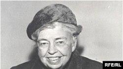 Элеонора Рузвельт у микрофона Радио Свобода. 1960-е годы.