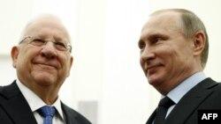 Израиль президенті Реувен Ривлин мен Ресей президенті Владимир Путин. Мәскеу, 16 наурыз 2016 жыл.