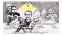 عارف در مهمانیاش از سربلندی و نجات ایران میگوید