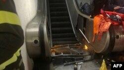 Эскалатор на станции метро «Республика» в Риме после аварии.
