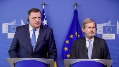 Milorad Dodik i Johanes Han, Brisel