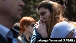 Azerbaijan -- Azerbaijani youth activists sentenced, supporters clash with police, Baku, 6 May 2014.