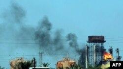 دود ناشی از حمله انتحاری روز یکشنبه در بغداد