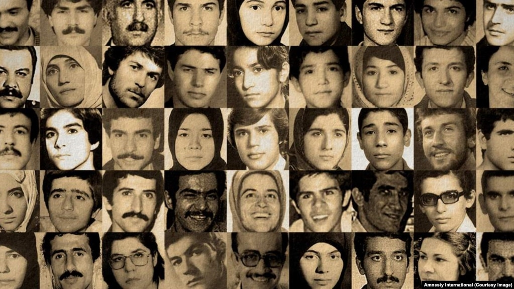 A combo picture of some of the hundreds of victims of Iran's mass executions on 1988.