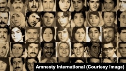 Iran -- Combo picture of several victims of Iran's mass executions on 1988.