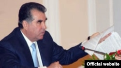 Tajik President Emomali Rakhmon often shuffles officials at the annual cabinet meeting.