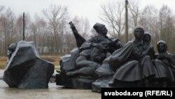 Фрагмэнт будучага мэмарыялу ў Смаргоні
