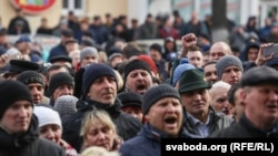 «Марш недармаедаў» у Воршы 12 сакавіка 2017 году