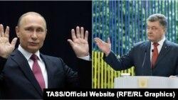 Владимир Путин и Петр Порошенко.