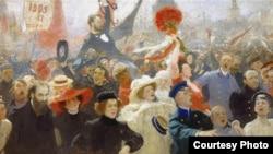 """Фрагмент картины Ильи Репина """"17 октября 1905"""""""