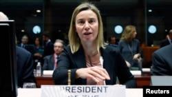 Верховный представитель ЕС по внешней политике Федерика Могерини (Брюссель, 9 февраля 2015 года)
