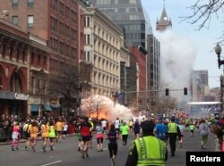 Взрывы произошли на финише марафона