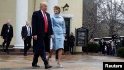 Presidenti i Shteteve të Bashkuara, Donald Trump, dhe Zonja e Parë, Melania Trump.