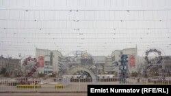 Оформление площади в Бишкеке