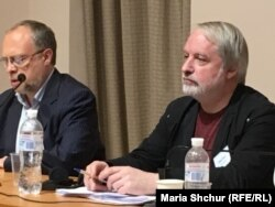 Микита Петров та Олександр Солдатов на семінарі у Києві