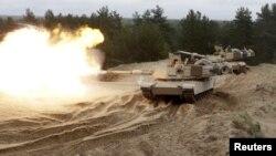 Танк Abrams на військових навчаннях у Латвії, 7 травня 2015 року
