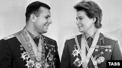 Valentina Tereškova i Jurij Gagarin, 1963.