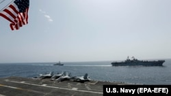 Американские военные корабли в Аравийском море, май 2019 года.