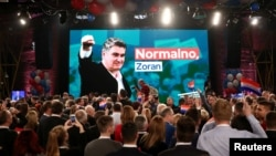 Milanovićeve pristalice u izbornom stožeru