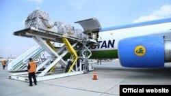 Uzbekistan airways авиаширкатига қарашли карго учоғи.