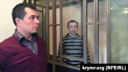 Адвокат Еміль Курбедінов і фігурант «справи Хізб ут-Тахрір» Руслан Зейтуллаєв, 7 березня 2017 року