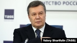 Ukraine's former president, Viktor Yanukovych, holds a news conference in Moscow on March 2.