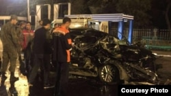 Interior Ministry spokesman Umarjoni Emomali said the collision took place in Dushanbe early on September 10, and that two passengers -- a 25-year-old woman and a 30-year-old man -- were killed.
