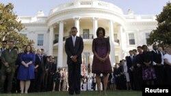 Fotografi arkivi nga shënimi i 11 vjetorit të sulmeve terroriste të vitit 2001, 11 shtator 2012