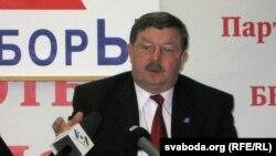 """Лідэр Партыі левых """"Справядлівы сьвет"""" Сяргей Калякін."""