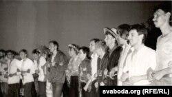 Талакоўскі «ланцуг». Другая палова 1980-х. Сяржук Вітушка ў цэнтры