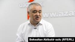 Қырғызстанның оппозициялық «Ата Мекен» партиясы лидері Омурбек Текебаев.