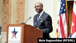 Georgia -- Daniel W. Yohannes, chief executive of the U.S. Millennium Challenge Corporation (MCC) speaks in Tbilisi, 26Jul2013